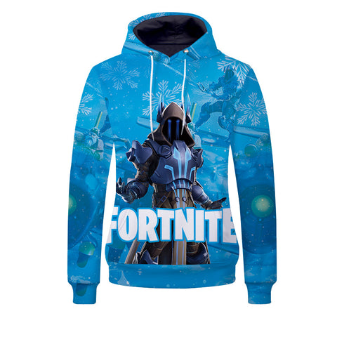 Youth Fortnite Hoodie Ice King Pullover Sweatshirt