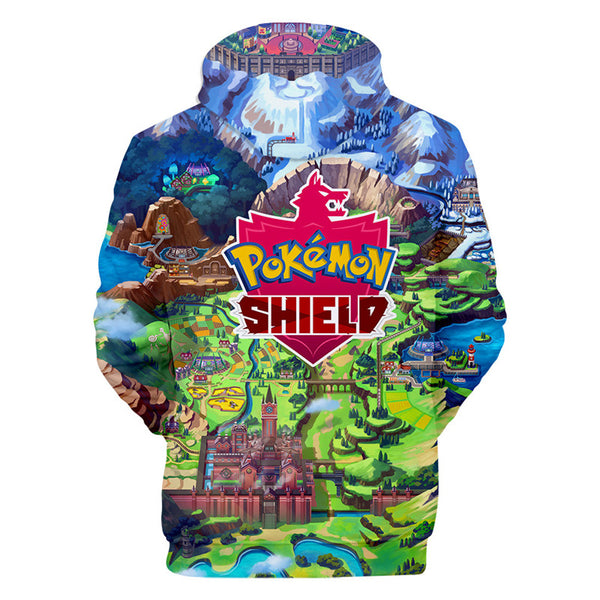 Unisex Pokemon Shield Hoodies Youth Printed Sweatshirt