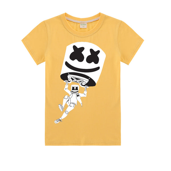 Kids Cotton T-Shirt Marshmello Cute T shirt