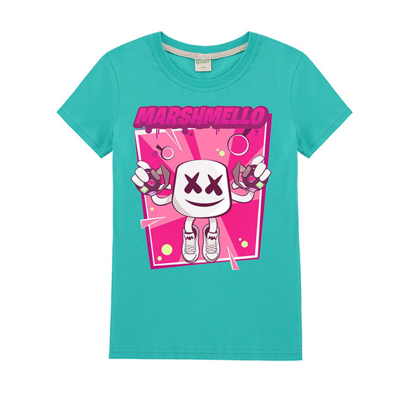Kids Cute T Shirt Tops Teen Girls Marshmello Tees