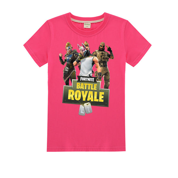 Youth Summer Short Sleeve Fortnite Casual Teen Kids Tops Tee T-Shirt