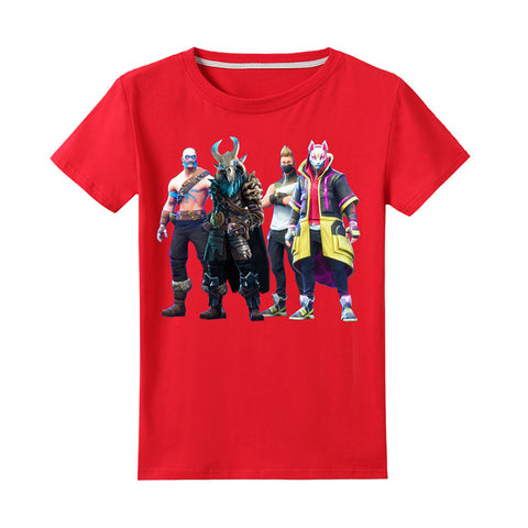 Kids Fortnite Cute T Shirt Unisex Tops Teen Drift Tees 4-13Y