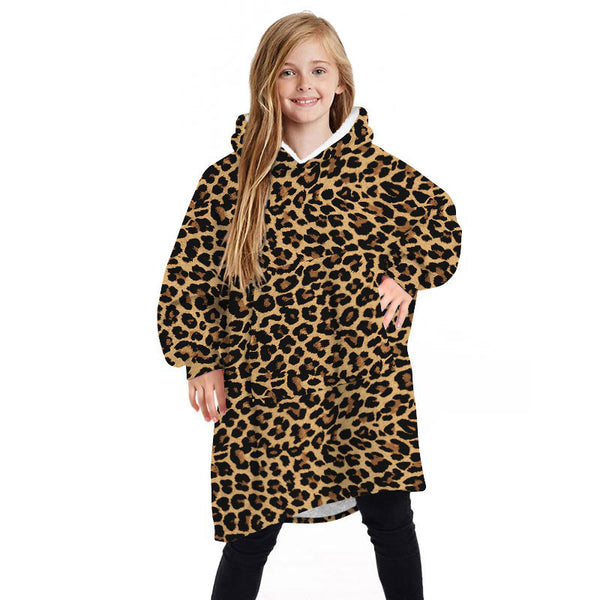 Children's Blanket Hoodie Comfy Oversized Wearable Blanket