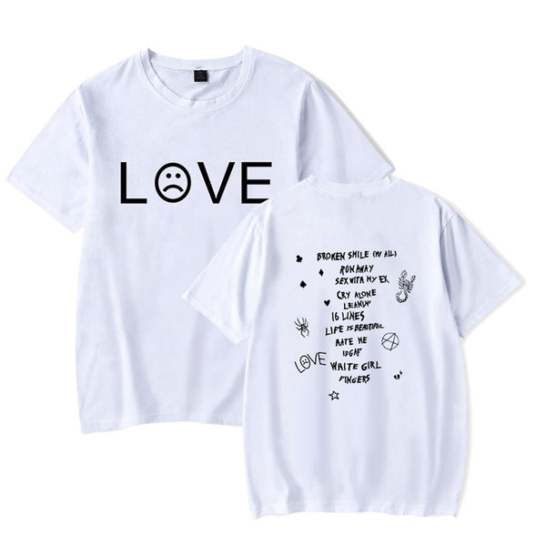 Unisex Lil Peep Short Sleeve Tee Tops Love Graphic T-shirt
