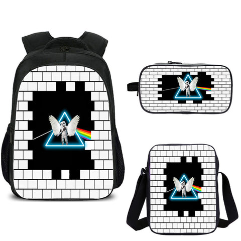 Marshmello Backpacks with shoulder bag and pencil box for school