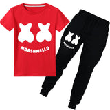 Marshmello Face T shirt With Pants For Kids