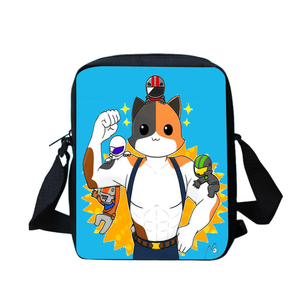 Cute Fortnite Meowscles Backpack Sets 3PCS Backpack Rucksack