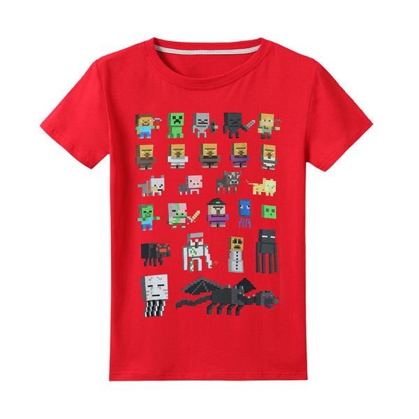 Minecraft Cute T-shirt For Kids Vivid Print Mini Mob Shirt