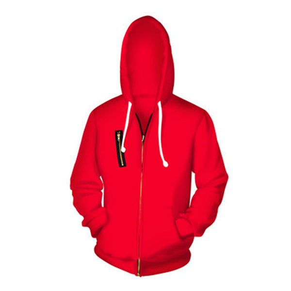 Money Heist Zip-Up Drawstring Hoodie