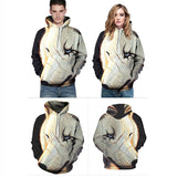 One-eyed Wolf Hoodies 3D Pattern Pullover Sweatshirt