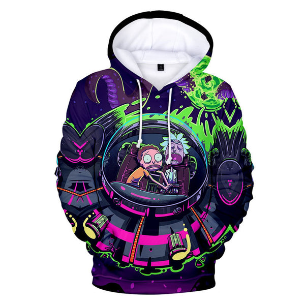 Kids and Adult Long Sleeve Pullover Hoodies Rick and Morty