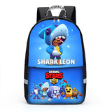 Brawl Stars Backpack Shark Leon Large Capacity Book bag for boys girls