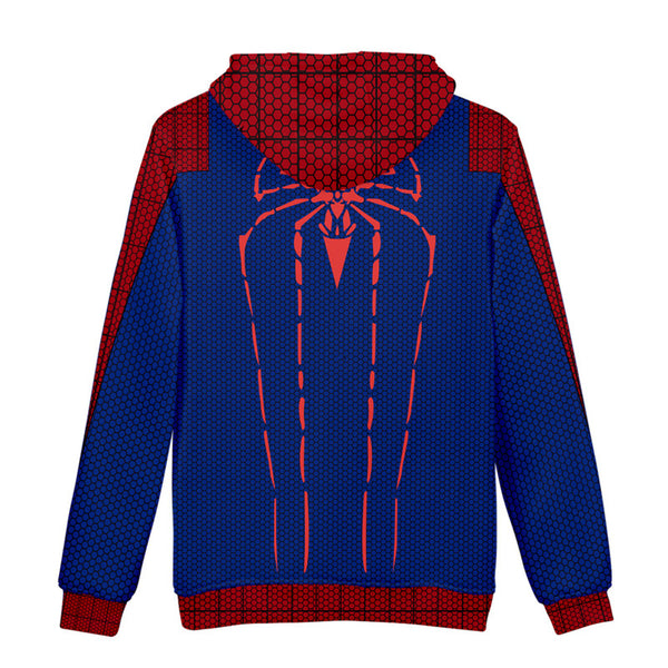 Superhero Mens Spiderman Hoodie Jacket