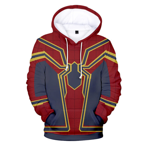 Unisex Spider Man Printed Pullover Hoodies Cool Sweatshirt