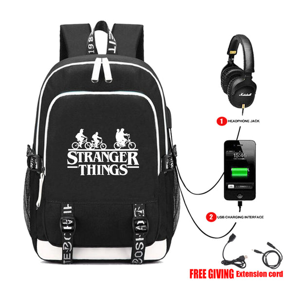 Cool Stranger Things Backpack Back To School Book Bag