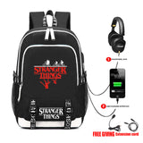 Stranger Things Backpack Senior School Backpack With USB Port