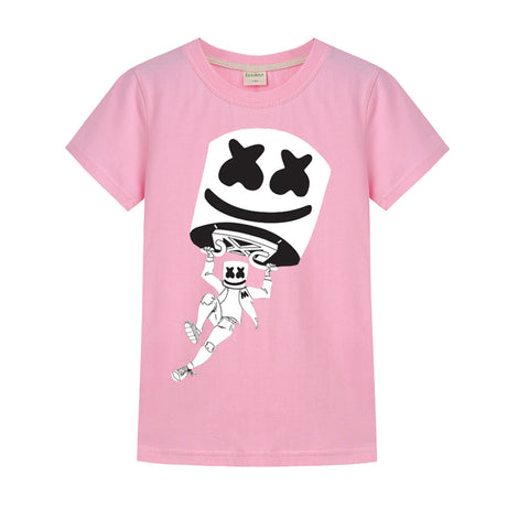 Marshmello Fortnite T-shirt Cotton Shirt Sale 130CM
