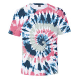 Colorful Tie-Dye T-shirt Rainbow Spiral Streak Tee