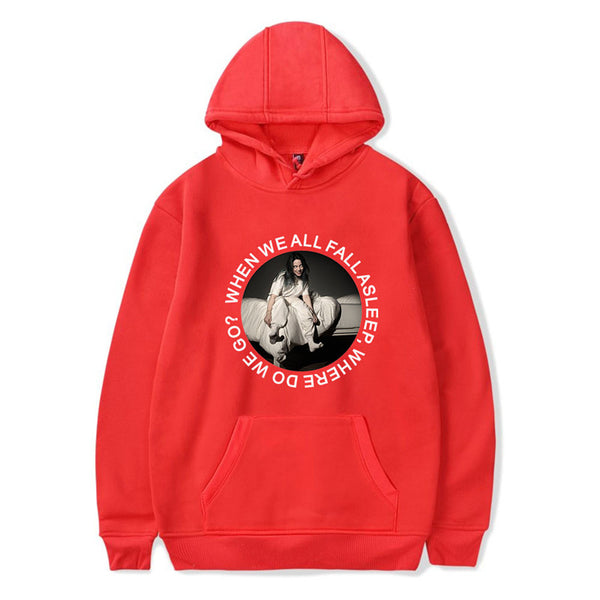 Billie Eilish Long Sleeve Hooded Sweatshirts Casual Trendy Hoodies