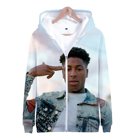 American Rapperr Youngboy Zip Up Hoodie 3D Printed Sweatshirt