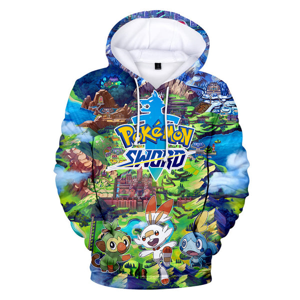 Pokemon SwordPullover Hoodie Ideal Gift Boys Teens 4-20Y