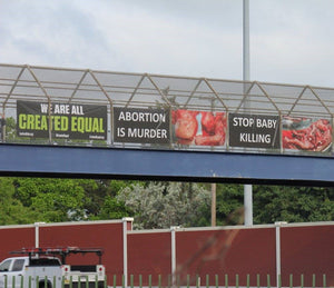 4X8 Banner -- Abortion is Murder