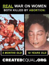 Abortion Victim/ Mother Killed Sign