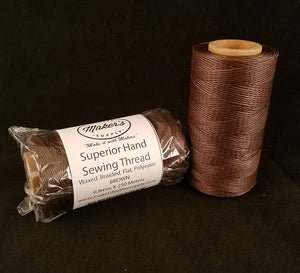 MLS Superior Hand Sewing Thread, Brown