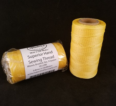 MLS Superior Hand Sewing Thread, Yellow