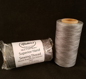 MLS Superior Hand Sewing Thread, Grey