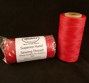 MLS Superior Hand Sewing Thread, Red