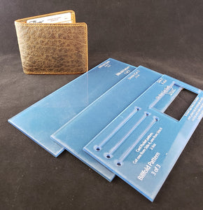 Billfold Wallet Template Set