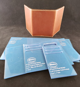 Tri Fold Wallet Template Set, 9 Card