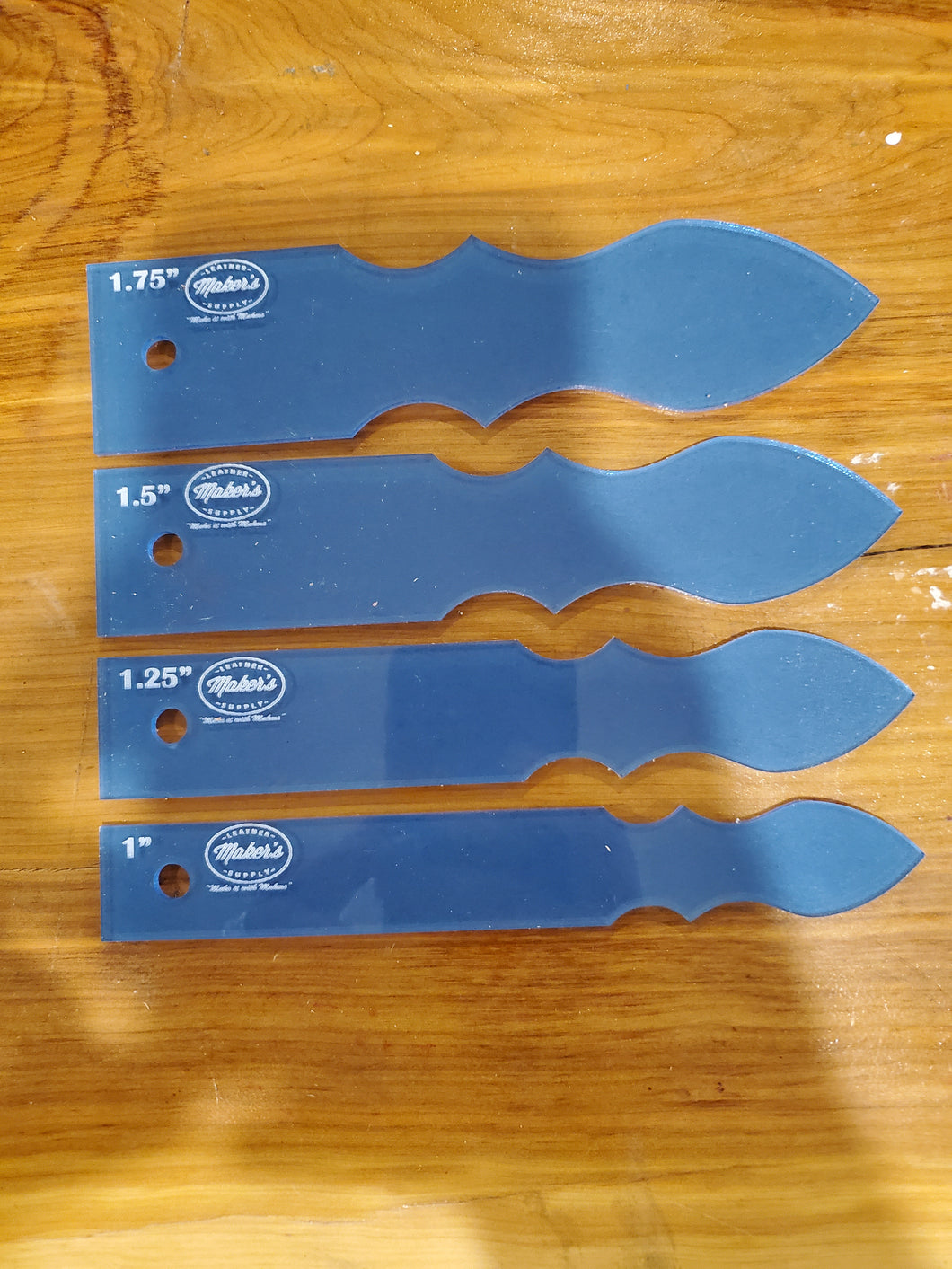 Western strap ends template set