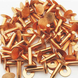 1 lb C.S. Osborne Copper Rivets and Burrs size 1700-12