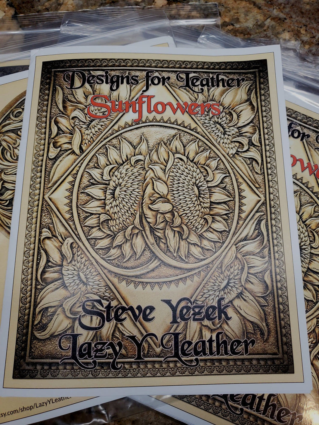 Designs for Leather Sunflower Pattern Pack #2 by Steve Yezek