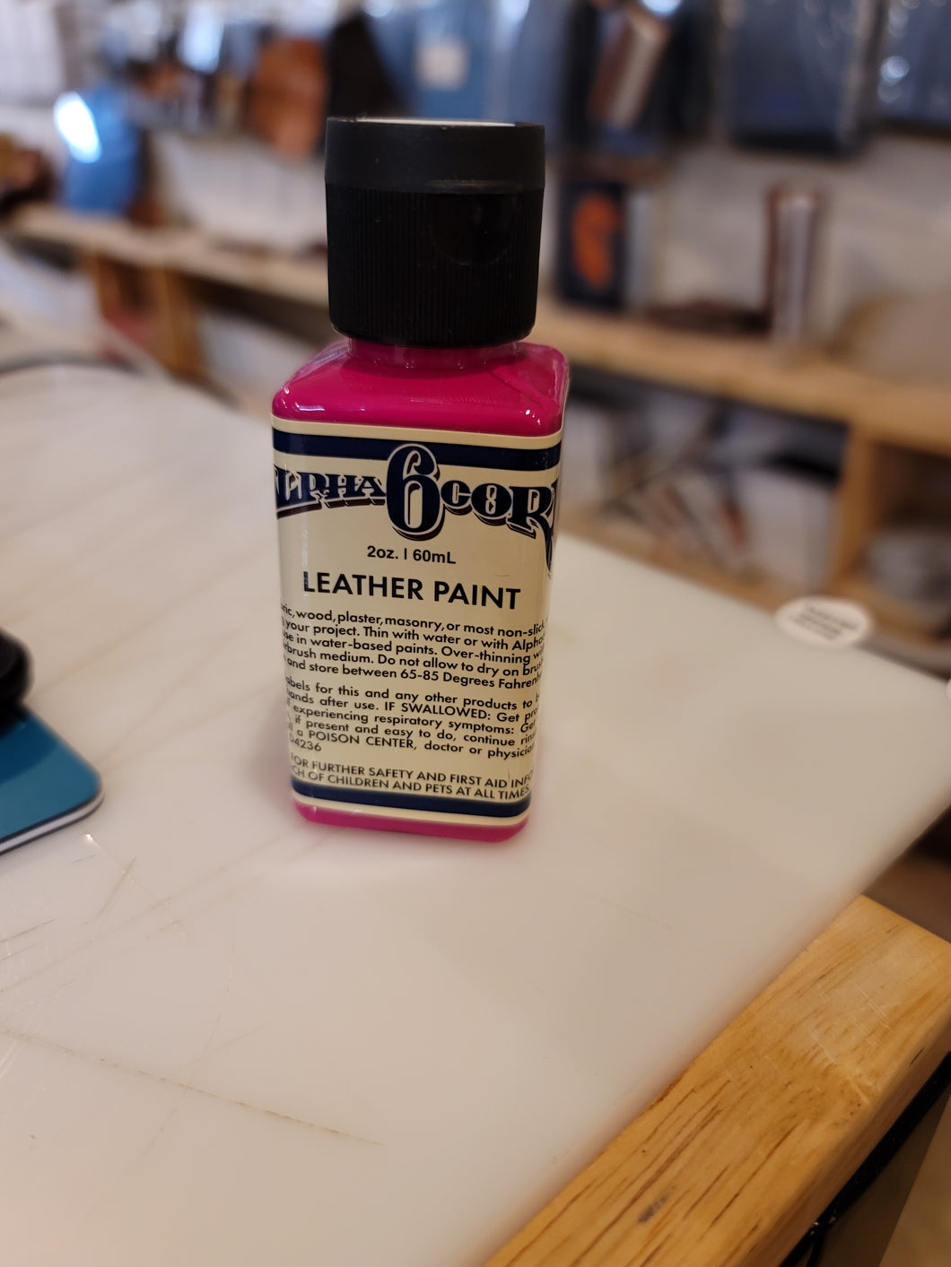 Alpha 6 Leather Paint –  Electro Magentia – 2.5 oz