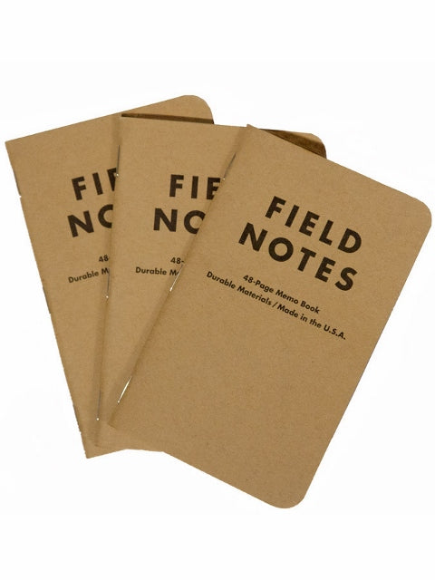 Field Notes Brand Memo Book (3pk) Plain