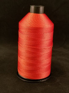 Fire Orange Bonded Nylon Thread, 8oz