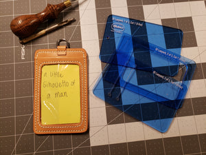 ID Badge Holder Acrylic Template Set