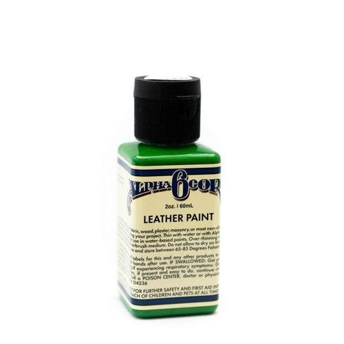Alpha 6 Leather Paint – Green – 2.5 oz