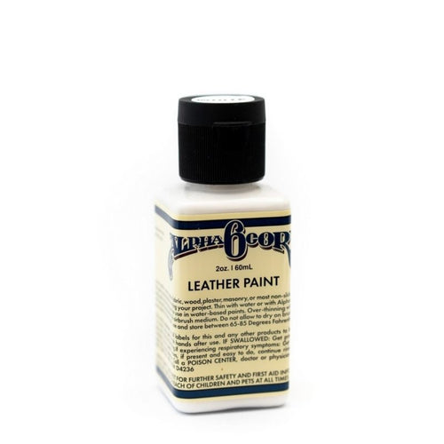 Alpha 6 Leather Paint – White – 2.5 oz