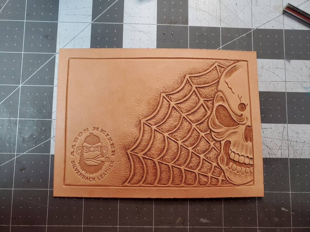 Skull and Spider Web Tooling Pattern