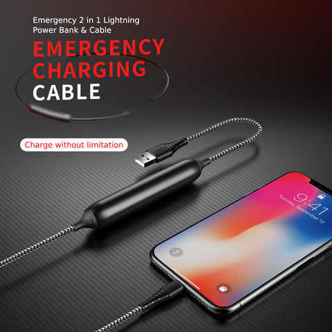 Emergency Charging Cable Red