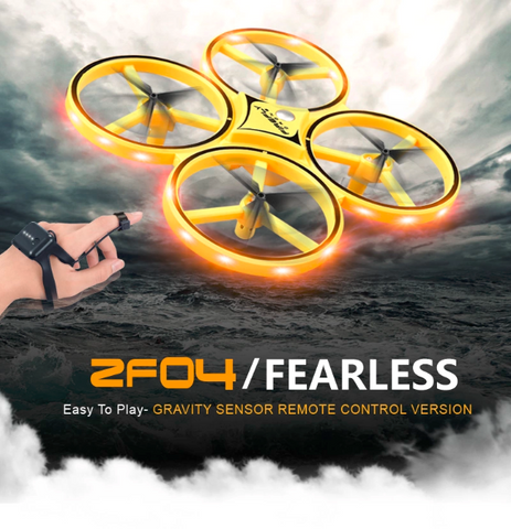 2.4G gravity sensor RC drone with cool light