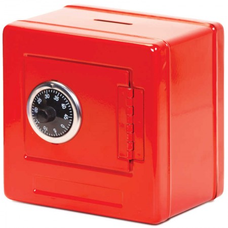 Metal Money Bank Red