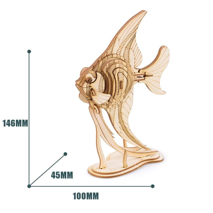Angle Fish Wooden Puzzle