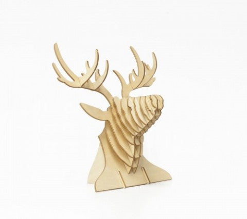 DEER HEAD 3D WOODEN PUZZLE