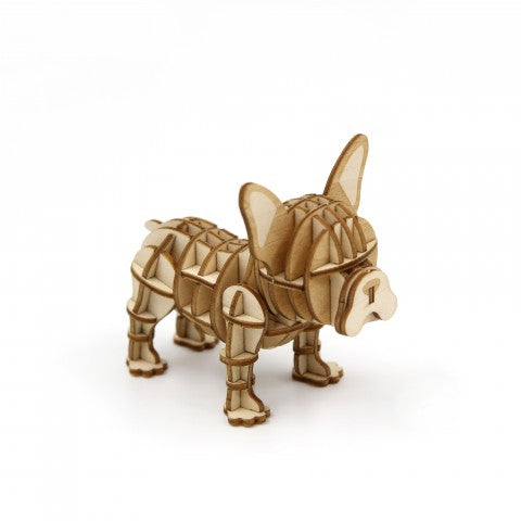 FRENCH BULL DOG 3D WOODEN PUZZLE
