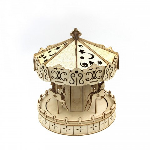 MERRY-GO-ROUND 3D WOODEN PUZZLE